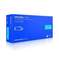 """Rękawice nitrylex basic """"M"""" 100szt niebieskie"""
